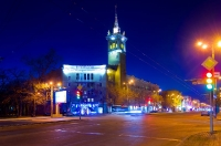Ночное Запорожье.
